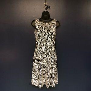 Michael Kors dress, zebra print, size small